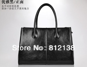 First Lady paragraph Genuine leather handbag 2013 lady handbag leather bag handbag tide split leather,HS-BAG005