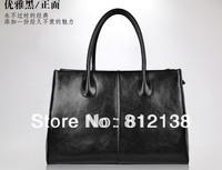 First Lady paragraph Genuine leather handbag 2013 lady handbag leather bag handbag tide split leather,HS-BAG005