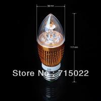 E27 4w Bridgelux White/Warm white Candel LED Light Blub Lamp Energy saving AC85~265V Free Shipping