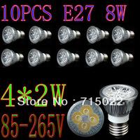 E27 8W LED Spot Light Bulbs Lamp Warm white/White 4X2W High Brightness Free Shipping