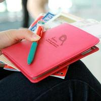 Passport Holder Document Bag PU Leather Hot New Korean Multifunction Trip Sheath Women Purse Bag BG1308, 7 Colors