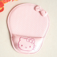 Hello Kitty wrister mousepad lovely butterfly knot cartoon warm creative personality lovely fashionable
