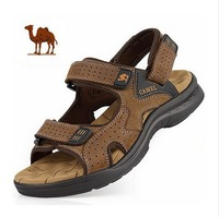 2013 Camel male sandals slippers genuine leather cowhide male sandals outdoor casual dual-use leather sandals  A178