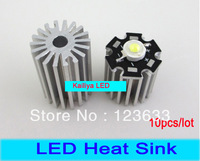 10pcs/lot Free shipping Aluminum Heat sink/Radiator 1 LEDs LED Heat radiator plate,with Screw or Sillicon Fixed,20mm height