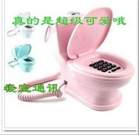 New arrival lovely home decoration toilet bowl telephone toilet corded telephone mini funny  extension telephone novelty gifts