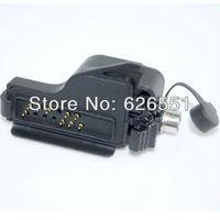 Audio Adapter for Motorola 2way Radio HT1000 MTS2000 XTS250 GP900 MTX8000 2pin headset portable Walkie talkie two way Ham Radio