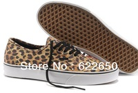 Best quality 2013 Newest Men's Fashion Leopard Sneakers Leopard Lovers Casual Canvas shoes Size 39-44 Free Shipping Drop ship