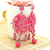 Y-X Latest Antique Vintage Pink Earrings Fashion Women Earring Statement India Bohemia Style Exclusive Jewellery 1102438A