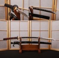 Genuine Rayskin AISI 1095 Steel Japanese Katana Sword Full Tang Sharp Can Cut Tree * HA206