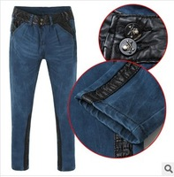 2014 Spring New Designer Fashion Europe Style Woman Skinny Jeans,Slim Button Fly Women Pencil Long Pants W069