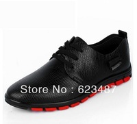 Crocodile grain genuine leather shoes, flats fashion casual men's shoes business leather shoes for men