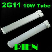 2G11 LED Tube 10W 2835 SMD 230mm PL Tube bulb high Power Fluorescent 60 Watt replacement 110V 220V Free Shipping 2pcs/lot