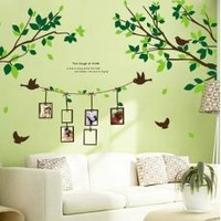 PVC 50X70cm removable wall stickers wallpaper bedroom, living room TV wall Lemon Tree Free shipping
