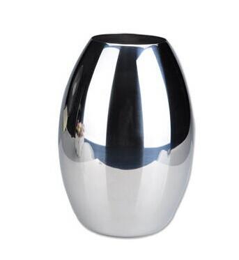 Brief stainless steel mirror vase (China (Mainland))