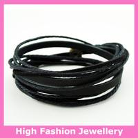 C0333 fashion handmade wrap bracelets,free shipping genuine leather charm tribal jewelry,hot sale multicolor wristband 12pcs/lot