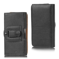2015 New bulk black Lichee Pattern Leather with Belt Clip for zopo Cover for zopo c2 case