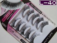 Factory Direct L-40 Mechanism Fake False Eyelashes Eye Lashes Natural Look Brand Makeup Free Shipping
