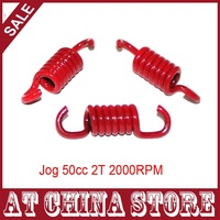 (3 pcs/set) Jog 50cc 1PE40QMB 2 Stroke Minarelli Engine Scooter Moped  Red 2000RPM 2000N Red High Performance Clutch Springs