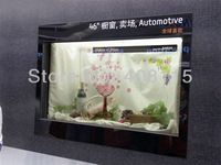 free DHL delivery 22''Transparent LCD/LED screen display box for jewelry/watch/pad/cellphone advertising display or exhibtiion