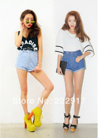 Korea stylenanda Same Paragraph Waisted Denim shorts Women Curling Twill Jeans shorts Thin Wild wave of street shooting
