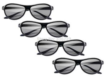 New 3D Glasses Polarized Passive Glasses For LG Cinema AG-F310 (4 Pairs)