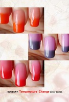 hot sale  free shipping Bluesky temperature change color uv led nail gel polish 20 colors+free(2 base coat+2top coat)