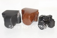 New!! Great Camera case bag fit  for Nikon P520 PU leather camera bag case coffee and black