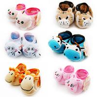 Super Quality 12pair=24 piece Coral fleece anklet Baby Sock, Anti-slip Warm Infant Newborn Crib Shoes, cartoon floor Sock