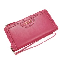 2013 New style fashion elegant genuine leather brand wallet High quality cowhide clutch card bags Laciness cutout design