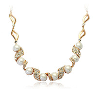 free shipping white pearl red apple necklace gold,Rigant necklace,Italina necklace,R400229-155