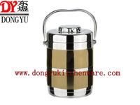 DY-2001, Factory Supply  1.4L stainless steel thermal insulation pot