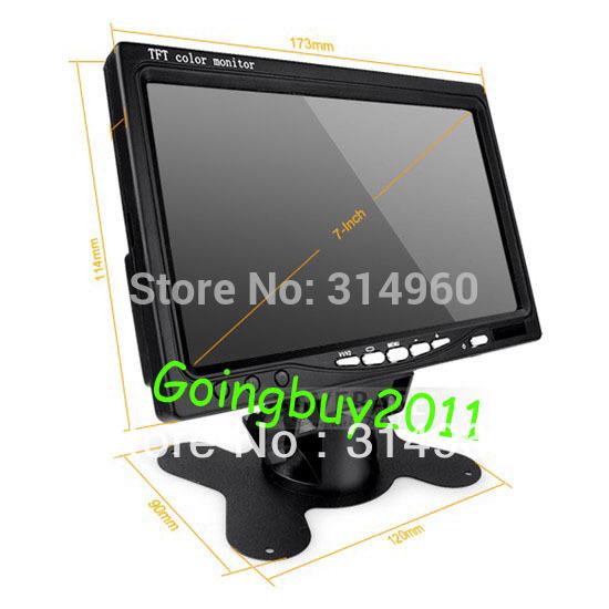 12v 24v 7 lcd monitor car rear view kit ir reversing camera for