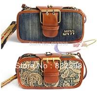 [ TC Jeans ]women handbags vintage denim small bags double zipper clutch day clutch messenger bag shoulder fashion female bag