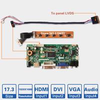 "17.3"" inch 1920*1080 LCD controller board kit Laptop LED screen DIY monitor HDMI DVI VGA Audio input M.NT68676.2A LVDS AD board"