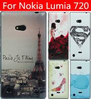22 species transparent side case cover for Nokia Lumia 720 case Lumia 720 cover Nokia 720 case cover