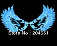 60x30 Genuine High Quality Equalizer Sound Active flashing EL car Sticker Angel wings style Car Music Rhythm Lamp free shipping