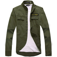 Free shipping 2013 male fashion leisure Thin style badge adornment American style jacket many colors M-2XL sizes Men's clothing