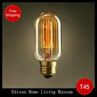 Hot Wholesale Lighting vintage lamps e27 220V interface vintage american pendant light wall Edison bulb free shipping for 1  pcs
