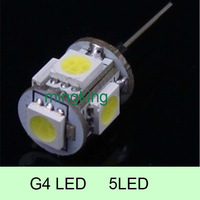 20pcs/lot G4 5pcs LED SMD 5050 Light Lamp Bulb For Home Car /RV Marine /Boat Lighting,  DC 12V  Cool White/Warm White