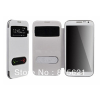 For samsung galaxy note 2 N7100 back battery housing cover case With window,free shipping,1pc/lot