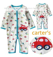1pcs,2013 new Carters Baby bodysuit, long sleeve rompers cartoon, baby boys girls sleepwear, autumn jumpsuit, infant overalls