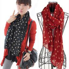 black chiffon scarf promotion