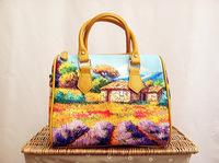 2014 New fashion oils painting print canvas women casual handbag christmas gift for girl