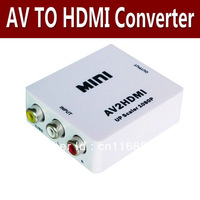 1PCS/lot Mini Composite RCA CVBS AV to HDMI Converter For VCR DVD up to 720P 1080P retail package