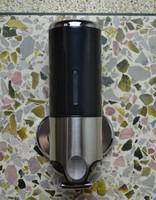 Single Head Stainless Steel and ABS Soap Dispenser 500ML Capacity Liquid Soap Dispenser Hand Sanitizer Box Home, Hotel Dispenser