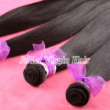"Queen Hair 2pc Lot 100% Virgin Malaysian Hair #1b Color Straight Human Hair 5A Grade 3.5oz/pc 12""-30"" Can Be Dyed Or Bleached"