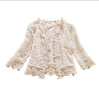 Autumn jacket outerwear Cardigan joker lace short coat Free Shipping W4084