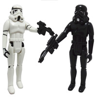 Free shipping Star War Black and White Clone Troop Action Figure  for 1977 year EP6 Edition Toy