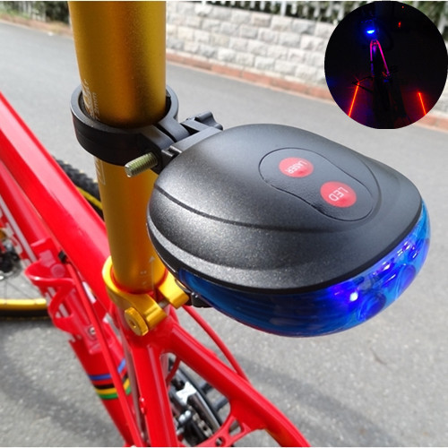 New Blue Bicycle Bike Cycling Led Laser tail Light Safety Rear Warning Lamp 7 flash models Free shi