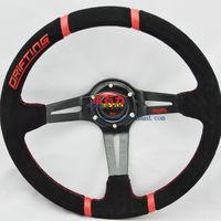 Red racing  suede steering wheel